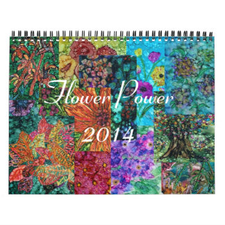 Flower Power 2014 Wall Calendar