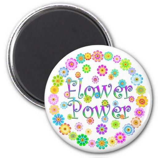 FLOWER Power 2 Inch Round Magnet