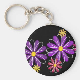 Flower Power 4 Keychain