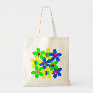 Flower Power 60s-70s 2 Tote Bags