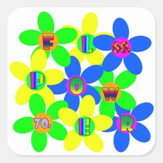 Flower Power 60s-70s 2 Square Sticker