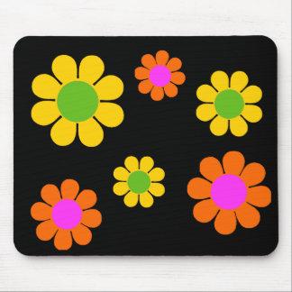 flower power 60s alfombrilla de ratones