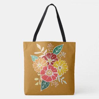Flower power #9 bolsa de tela