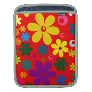 FLOWER POWER (a retro colorful floral design) ~~ iPad Sleeves
