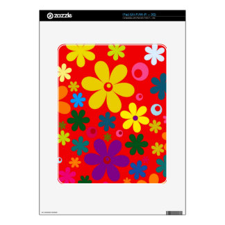 FLOWER POWER (a retro colorful floral design) ~~ iPad Decal