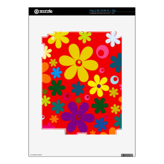 FLOWER POWER (a retro colorful floral design) ~~ Decal For The iPad 2
