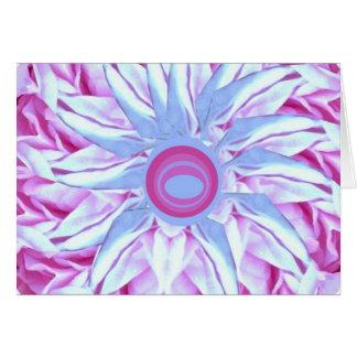 Flower Power Abstract Art Photo Blank Inside Card