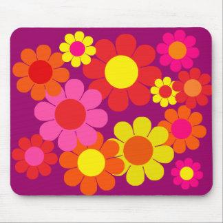 Flower power adaptable 60s alfombrillas de ratones