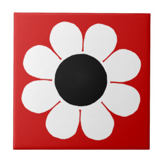 Flower power adaptable azulejo cuadrado pequeño