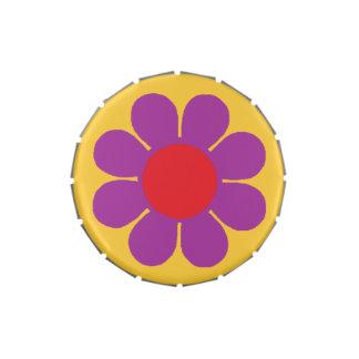 Flower power adaptable del estallido frascos de dulces
