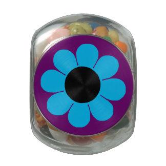 Flower power adaptable del estallido jarras de cristal jelly bely
