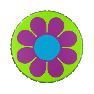 Flower power adaptable del estallido latas de caramelos