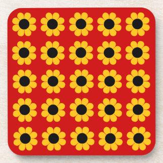 Flower power adaptable del estallido posavaso