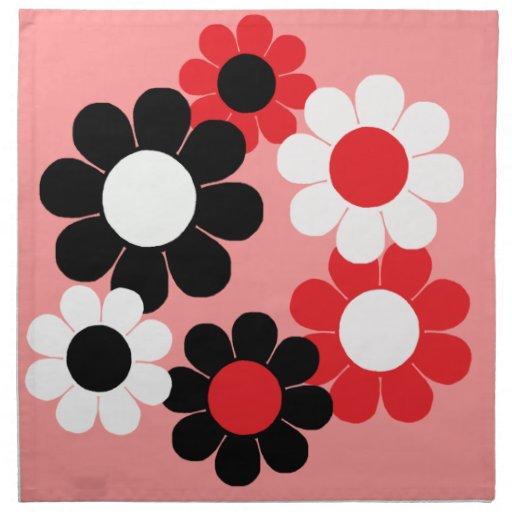 Flower power adaptable del estallido servilleta imprimida