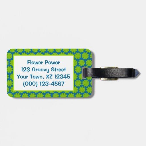 Flower power adaptable etiquetas maleta