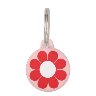 Flower power adaptable placas de mascota