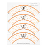 Flower Power Apricot Number or Initial Cake Cosies Customized Letterhead