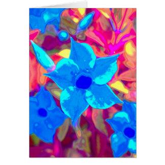 Flower power azul tarjeton