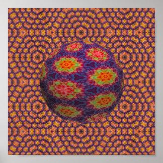 Flower Power Ball Poster