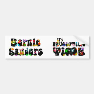 Flower Power Bernie Sanders 2016 Bumper Sticker