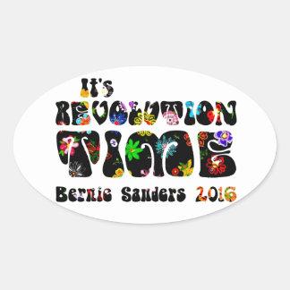 Flower Power Bernie Sanders 2016 Oval Sticker
