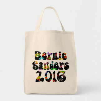 Flower Power Bernie Sanders 2016 Tote Bag