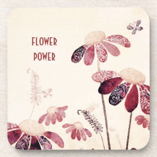 Flower Power Beverage Coaster