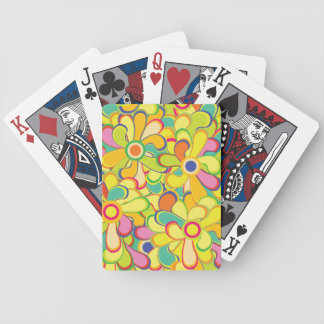 Flower Power Bicycle Playing Cards