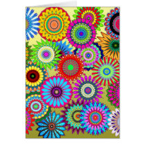 Flower Power Blank Card