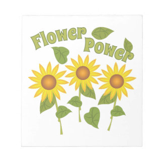 Flower power blocs de notas