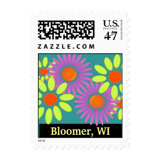 Flower Power Bloomer Wisconsin Vintage Boho Stamps
