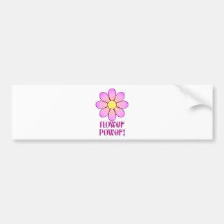 Flower Power Car Bumper Sticker