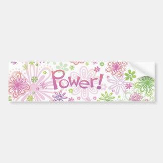 Flower Power Bumper Sticker