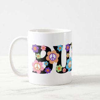 Flower Power Bunco Mug
