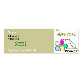 Flower Power Business Card Template