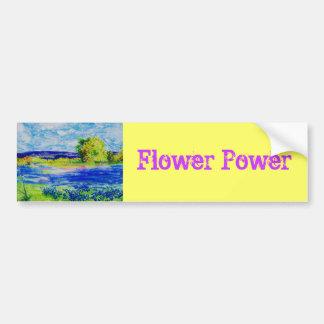 Flower power pegatina de parachoque