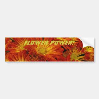 ¡Flower power! Etiqueta De Parachoque