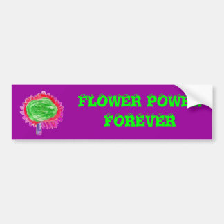 FLOWER POWER ETIQUETA DE PARACHOQUE