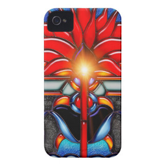 Flower power - caso del compañero de la caja de Bl Case-Mate iPhone 4 Carcasa