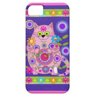 Flower Power Cat iPhone 5 Case