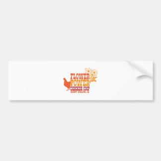 Flower Power Chicken Coop Car Bumper Sticker