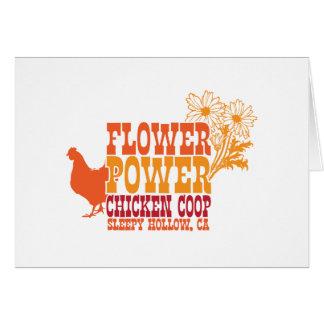 Flower Power Chicken Coop Cards