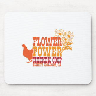 Flower Power Chicken Coop Mouse Pad