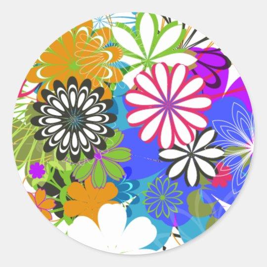 Flower Power! Classic Round Sticker