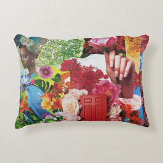 Flower Power Collage Accent Pillow