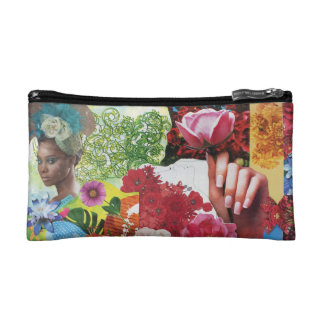 Flower Power Collage Cosmetic Bag
