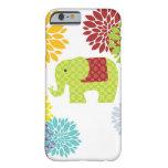 Flower power colorido bonito del elefante del funda de iPhone 6 barely there