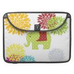 Flower power colorido bonito del elefante del Hipp Fundas Macbook Pro