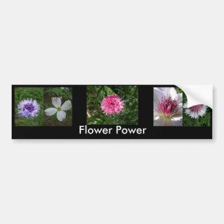 Flower power de Jocelyn Burke Etiqueta De Parachoque