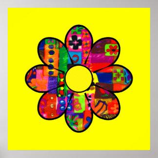 Flower power de los años 60 póster